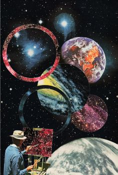 Miles Donovan - collage art - Ulysses A series of images from the missing space probe Ulysses.