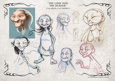 Algunos bocetos del proceso de creación de la Dama. Más información, nuevamente, en el blog de producción .