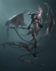 Legend Art And Fantasy Dragons's photo. Fantasy Girl, Fantasy Art Women, Beautiful Fantasy Art, Dark Fantasy, Fantasy Races, Female Character Design, Character Art, Tiefling Female, League Of Angels