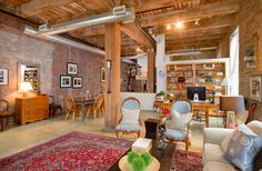 Granite Kitchen Counters, Toronto Photos, Exposed Brick Walls, Polished Concrete, Wood Ceilings, Workout Rooms, Concrete Floors, Lofts, Open Concept