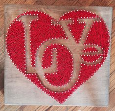Valentine valentines day custom string art heart red love patterns string a String Art Heart, String Wall Art, Nail String Art, String Crafts, Diy Wall Art, Diy Art, Wall Decor, String Art Templates, String Art Patterns