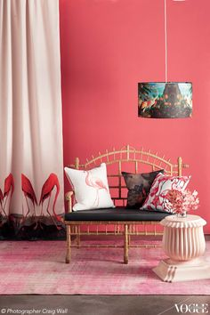 Our pretty pick of flamboyant flamingos. From 'Flights of Fancy' a story on page 19 of Vogue Living January/February2013. Photo...