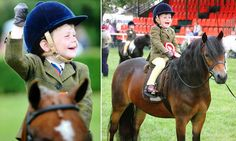 Just champion! Harry, 3, rides his way into history.  Youngster qualifies for prestigious show despite only learning to ride this year