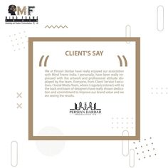 Another Feedback from our client which motivates the team to put their best foot forward. Glad to share what client has to say about the Mind Frame India Team.  #branding #seo #marketing #testimonial #persiandarbar #mumbai #kurla #andheri #sem #tvcommercials #instagrammarketing #marketingagency #socialmediamarketing #clientappreciation #positivity Seo Marketing, Social Media Marketing, Tv Commercials, Mumbai, Letter Board, Advertising, Mindfulness, Branding, Positivity
