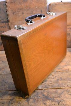 Vintage Solid Wood Briefcase
