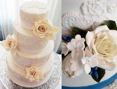 Wedding Cake Inspiration: Pearls and Lace 1
