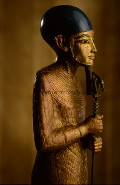 Ptah statue from the tomb of Tutankhamun, The Valley of Kings, KV62. Photo by Kenneth Garrett.