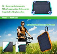 Solar Power Bank Waterproof Portable Solar Charger External Battery For iphone 5 6 Samsun Solar Battery Charger, Solar Power, Technology, Iphone, Tech, Solar Energy, Tecnologia