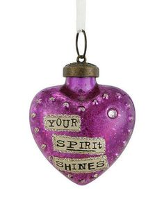 Kelly Rae Roberts Glass Birthday Wish Ornament-June Purple Christmas Ornaments, Kelly Rae Roberts, Wool Art, Office Stationery, Heart Ornament, Handmade Ornaments, Heart Art, Rug Hooking, Birthday Wishes