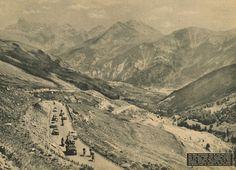 Tour de France 1953. 18^Tappa, 22 luglio. Gap > Briançon. Col de Vars. Jean Dacquay (1927-2014), Adolphe Deledda (1919-2003) e Bernard Quennehen (1930-2016) [Le Miroir des Sports]