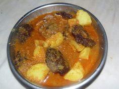 Banana Flower Cutlet Curry Banana Inflorescence Bada Curry - Healthy Indian Veg Recipes