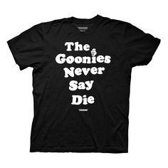 The Goonies Never Say Die Black T-Shirt