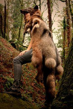 Black Wolf Skin Headdress | Flickr - Photo Sharing!