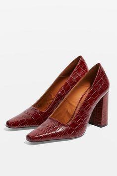 39f93829937b42 GEENA Block Heel Court Shoes Chaussures De Bureau, Escarpins, Vente De  Chaussures, Talons