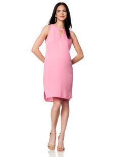 A Pea In The Pod Maternity CHARLIE JADE Sleeveless Keyhole Detail Maternity Dress