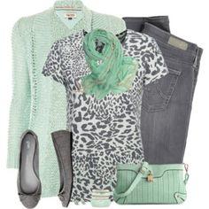 51 mejores imágenes de outfit verde menta con gris fd31068c6338