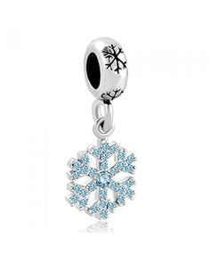 Pandora Blue Snowflake Charm Black Friday is in form of a snowflake with blue sparkling diamond, it is beautiful and delicate!