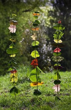 Splendiferous — Land-art Projects for Kids by Richard Shilling Art Et Nature, Theme Nature, Deco Nature, Nature Crafts, Art Therapy Activities, Nature Activities, Activities For Kids, Kindergarten Activities, Rainforest Activities