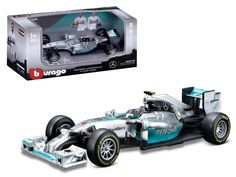 Mercedes AMG Petronas F1 W05 Hybrid Lewis Hamilton F1 Formula 1 Car 1/43 Diecast Model Car by Bburago - Brand new 1:43 scale diecast car model of Mercedes AMG Petronas F1 W05 Hybrid Lewis Hamilton F1 Formula 1 Car die cast car by Bburago. Brand new box. Rubber tires. Detailed interior, exterior. Dimensions approximately L-4 inches. Please note that manufacturer may change packing box at any time. Product will stay exactly the same.-Weight: 1. Height: 5. Width: 9. Box Weight: 1. Box Width: 9…