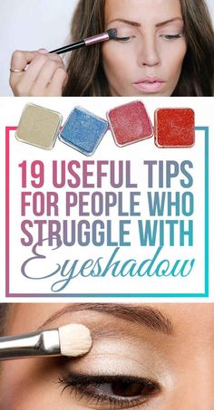 19 Eyeshadow Basics Everyone Should Know 19 Useful Tips For People Who Struggle With Eyeshadow – for more beauty, makeup, and nail art tips and ideas go to www.sparkofallure… – Das schönste Make-up All Things Beauty, Beauty Make Up, Make Up Tricks, How To Make, Eyeshadow Basics, Eyeshadow Techniques, Makeup Basics, Makeup Techniques, Beauty Hacks For Teens