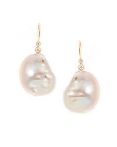 Diamond Blush Pearl Earrings - www.annaruthhenriques.com