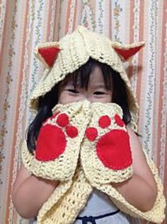 Kitty cat scoodie pattern. Could be good for any animal if you change the ears and colors.