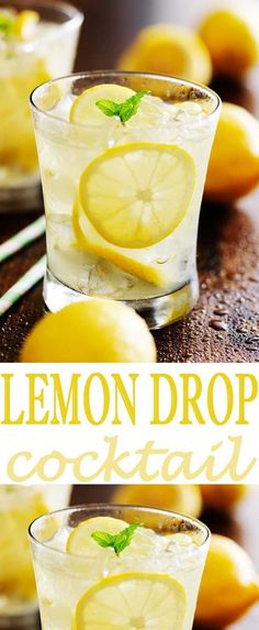 This is the best lemon drop cocktail around. You'll love how easy it is to mix u. This is the best lemon drop cocktail around. You'll love how easy it is to mix up and how delicious it is. Try this lemon cocktail recipe. Sangria, Refreshing Drinks, Yummy Drinks, Healthy Drinks, Diabetic Drinks, Healthy Recipes, Low Calorie Drinks, Yummy Recipes, Cocktail Sauce