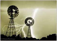 Lightning Strikes Windmills