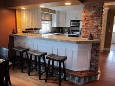 806 S. Union = Love the kitchen pass through with the exposed brick