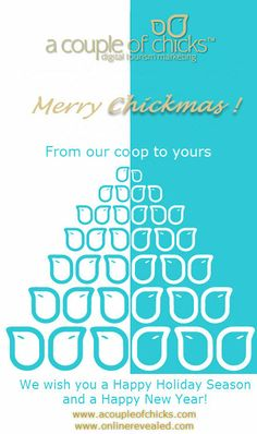 Merry Chickmas from the coop @acoupleofchicks.com A Couple of Chicks™ Digital Tourism Marketing #DigitalMarketing