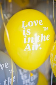Love is in the air! #yellow #balloons {Mike Arick Photography}