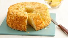 Two ingredients is all it takes to create a quick, delicious and easy pineapple angel food cake!