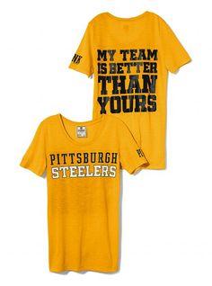 Pittsburgh Steelers Athletic Tee - Victoria's Secret PINK® - Victoria's Secret