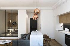 Светлая студия 33 м² с грамотным зонированием – Красивые квартиры