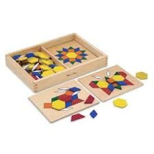 Melissa And Doug Melissa & Doug Pattern Blocks And Boards - With multiple modes of play, these creative and fun shapes and boards will give little hands hours of entertainment. Wooden Case, Wooden Toys, Wooden Puzzles, Tangram Puzzles, Wooden Gifts, Wooden Pattern, Wooden Shapes, Melissa & Doug, Inspiration For Kids