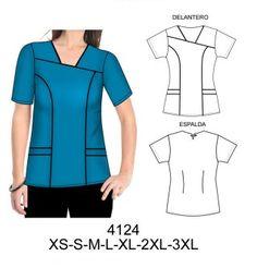 Delantales Scrubs Outfit, Scrubs Uniform, Uniform Shirts, Scrubs Pattern, Top Pattern, Office Uniform For Women, Dental Uniforms, Plus Sise, Corporate Uniforms