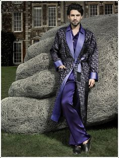 You can wear a silk robe like this on top of your pajamas if you want.