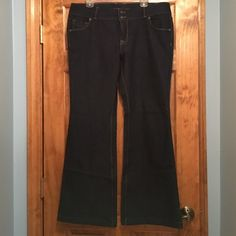 Selling this NWOT Lands End dark wash Bootcut jeans Size 14 in my Poshmark closet! My username is: 15sunflower15. #shopmycloset #poshmark #fashion #shopping #style #forsale #Lands' End #Denim
