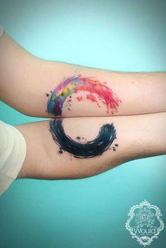 Tatuagens mais criativas de casais | matching-couple-tattoos-59__605