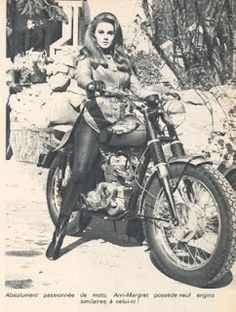 Ann Margaret on a motorcycle