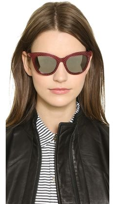 Marc by Marc Jacobs Perforated Metal Mirrored Sunglasses