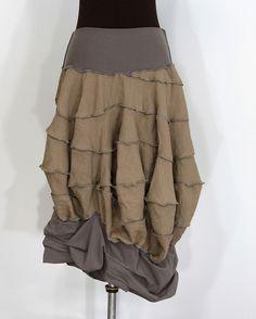mochus foldania: sculpted linen skirt by Secret Lentil, via Flickr