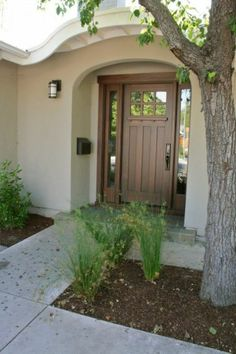 simple and beautiful front door...traditional entry by Tali Hardonag Architect
