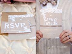 wedding invitation by Leah Aldous. #invitation #wedding #rustic