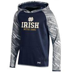 Girl's Printed Notre Dame Fighting Irish Under Armour Hoodie