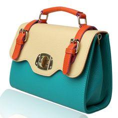 (FL004892) 2012 New Style Summer Cross-body Handbag Contrast Color Packet Korean Candy Ancient Fashion Handbag
