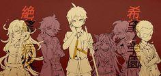 Mikan, Nagito, Hajime, Ibuki, Akane and Fuyuhiko