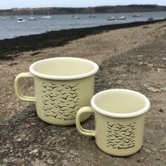 A personal favourite from my Etsy shop https://www.etsy.com/uk/listing/605604133/enamel-espresso-mugs-clotted-cream-large