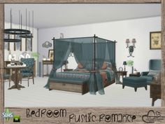 The Sims Resource: Rustic Romance Bedroom by BuffSumm • Sims 4 Downloads