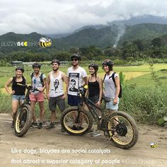 Like dogs, bicycles are social catalysts that attract a superior category of people - Chip Brown  🐝 🚴‍♀️🚴🏼‍♂️ #buzzybeebike #chiangmai #thailand #ebike #ebiking #fatbike #fatbiking #cyclingtour #cycletour #cycling #electricbicycle #thailandtravel #lovethailand #amazingthailand #thailandholiday #dogs #catalyst #chipbrown
